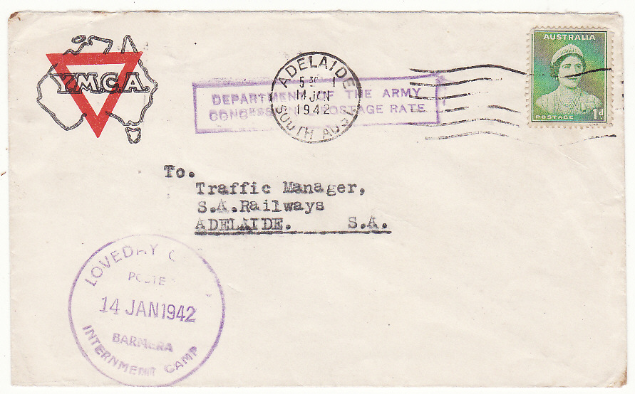 [19528]  AUSTRALIA…WW2 LOVEDAY INTERNMENT CAMP…  1942 (Jan 14)