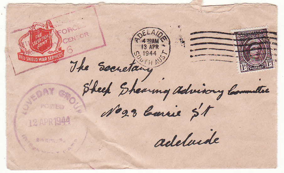 [19529]  AUSTRALIA…WW2 LOVEDAY INTERNMENT CAMP…  1944 (Apr 12)
