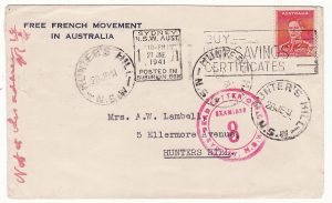 AUSTRALIA…WW2 FREE FRENCH MOVEMENT in AUSTRALIA…