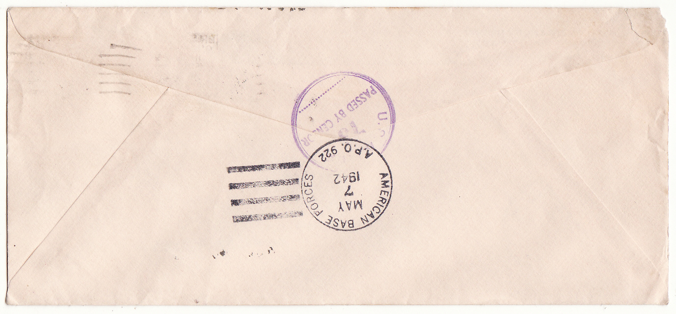 [19556]  AUSTRALIA …WW2 USA FORCES in AUSTRALIA MISSENT MAIL…  1942 (May)