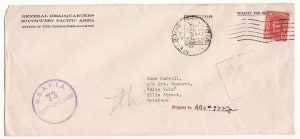 AUSTRALIA …WW2 USA FORCES in AUSTRALIA MISSENT MAIL…