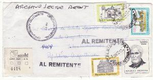 ARGENTINA - FALKLAND Is…..1982 ARGENTINE FORCES WAR RETURNED TO SENDER.