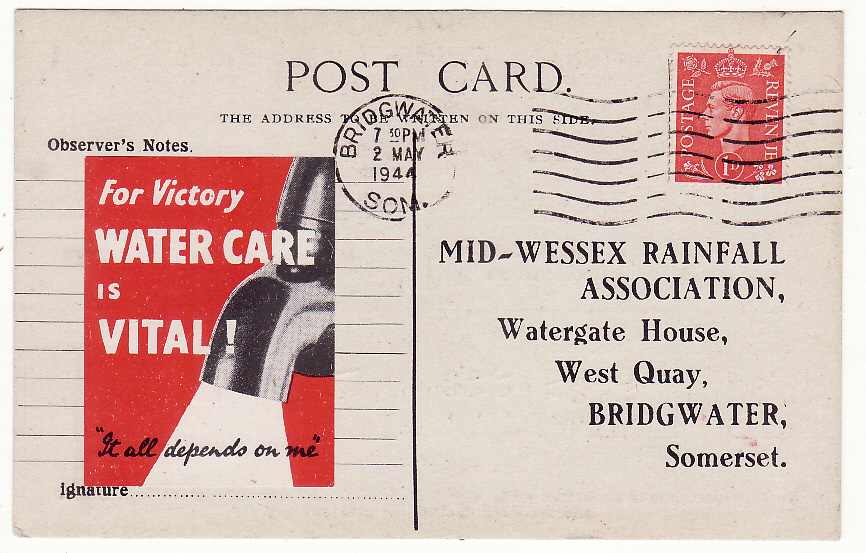 [19584]  GREAT BRITAIN..WW2 PATRIOTIC WATER CARE..  1944 (May 2)
