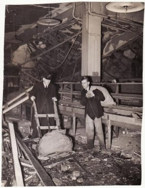 GREAT BRITAIN..WW2  OFFICIAL PRESS PHOTO of BLITZ BOMBING of POST OFFICE...