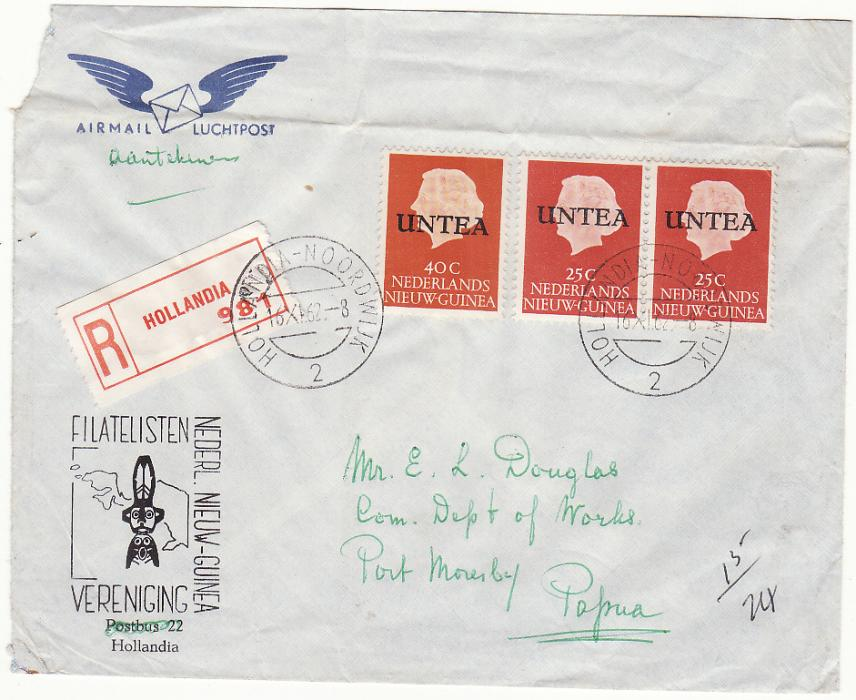 [19607]  WEST NEW GUINEA - PAPUA…REGISTERED U.N.T.E.A to PAPUA. ...   1962 (Nov 16)