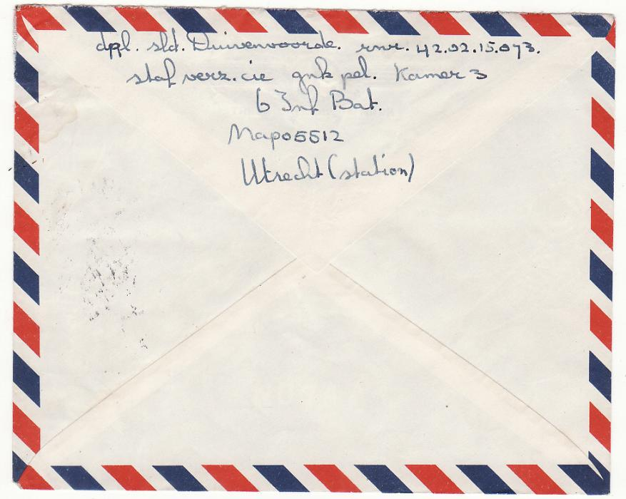 [19616]  WEST NEW GUINEA - NETHERLANDS…1962 DUTCH MILITARY MAIL . ...   1962 (Oct 24)