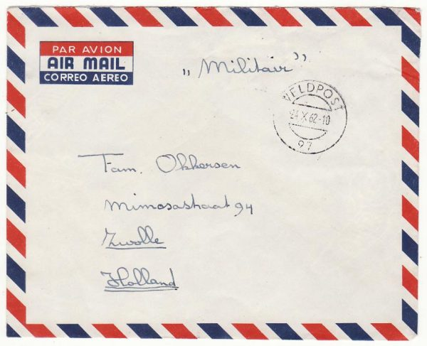 WEST NEW GUINEA - NETHERLANDS…1962 DUTCH MILITARY MAIL . ...