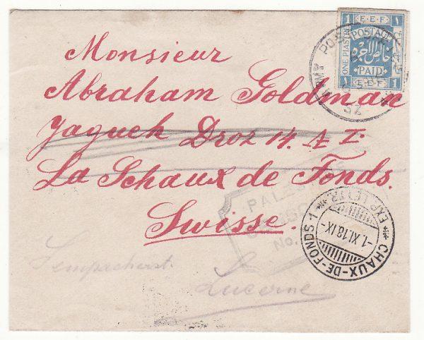 PALESTINE - SWITZERLAND … WW1 BRITISH OCCUPATION FORCES…