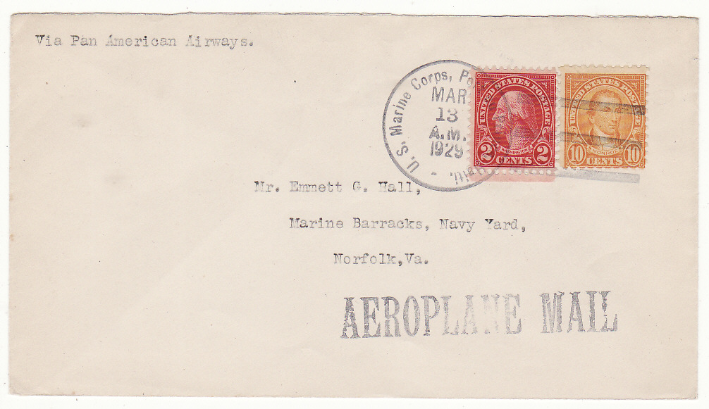 [19683]  HAITI-USA...US MARINE FORCES AEROPLANE MAIL....  1929 (Mar 13)
