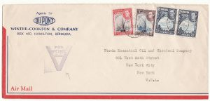 BERMUDA-USA...WW2 PATRIOTIC AIRMAIL..