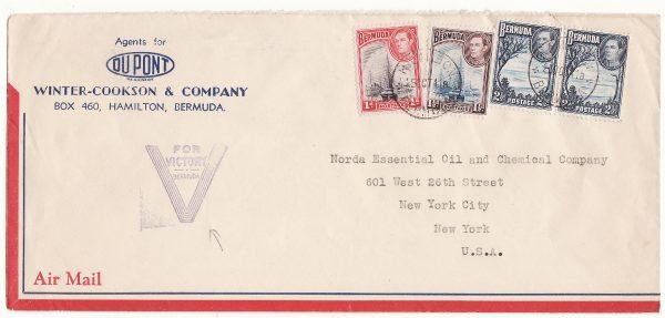BERMUDA-USA...WW2 PATRIOTIC AIRMAIL..
