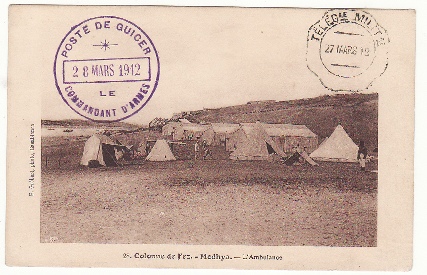 "[19689]  MOROCCO - FRANCE…FRENCH OCCUPATION …  ""1912 ( Mar 27)"