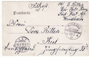 GERMAN SOUTH WEST AFRICA - GERMANY … HERERO WAR ...
