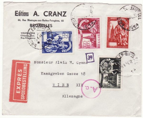 BELGIUM - AUSTRIA…WW2 WINTER RELIEF FUND…