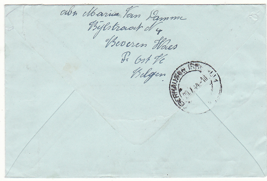 [19708]  BELGIUM - GERMANY.…WW2 REGISTERED CENSORED EXPRESS MAIL.…  1944 (Jul 20 )