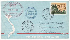 VIET-NAM…VIET-NAM WAR INTERNAL MILITARY MAIL from CANADIAN MCCD DELEGATION