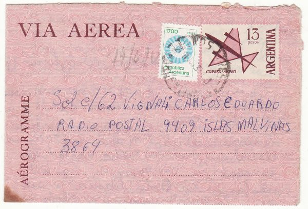 ARGENTINA - FALKLAND Is. …1982 FALKLANDS WAR ARRIVING DAY of SURRENDER  ....