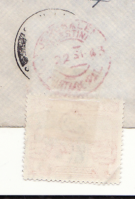 [19567]  PALESTINE - CYPRUS…RE-DIRECTED RED CROSS with ADDED ADHESIVE.   1943 (Sep 22)