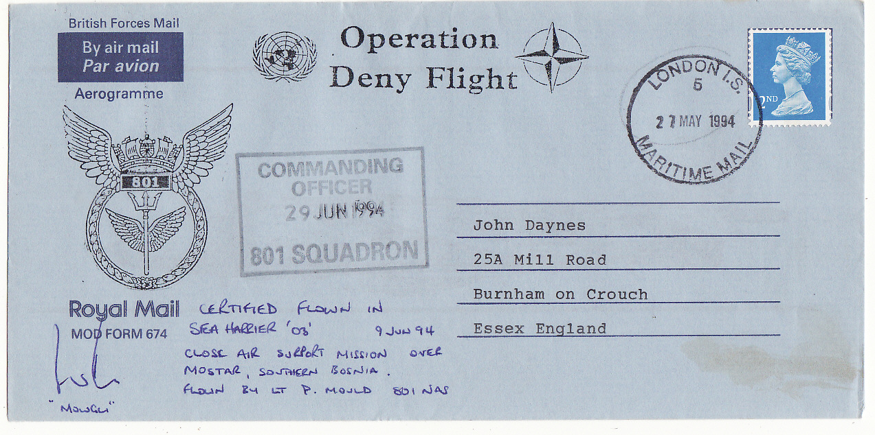 [19782]  YUGOSLAVIA - GB … OPERATION DENY FLIGHT over BOSNIA ...   1994 (May 27)