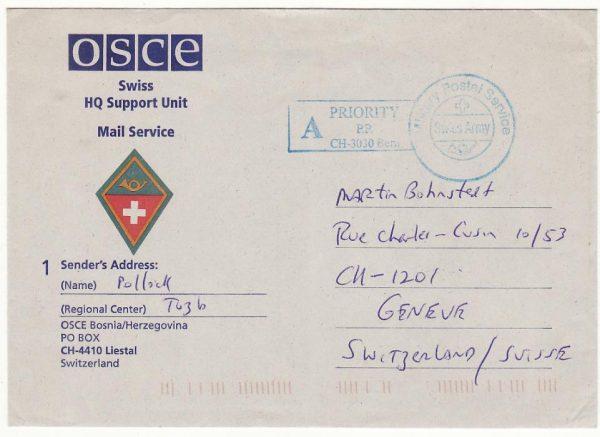 YUGOSLAVIA - SWITZERLAND … ORGANISATION for SECURITY & CO-OPERATION in EUROPE..