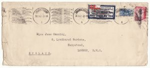 SOUTH AFRICA - GB …WW2 NAVY LEAGUE WAR FUND PATRIOTIC LABEL...