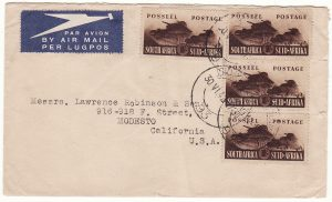 SOUTH AFRICA - USA…WW2 TRANS ATLANTIC AIRMAIL. …