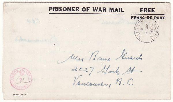 CANADA…WW2 POW KANANASKIS INTERNMENT CAMP .....