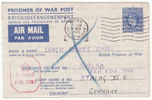 GB - GERMANY … WW2 POW RETURNED BY SWISS POST OFFICE ...