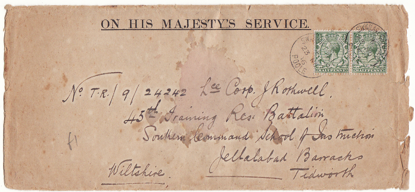 [19932]  GREAT BRITAIN- …WW1 OHMS with WAR OFFICE & CHIEF POSTAL CENSOR ENCLOSURE…   1916 (Nov 20)