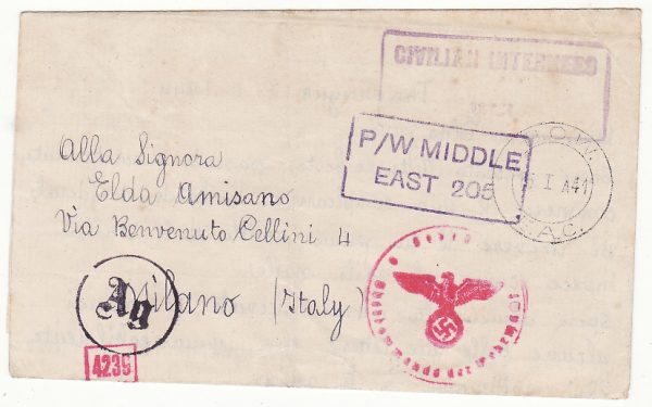 TANGANYIKA - ITALY..WW2 CIVILIAN INTERNEES MAIL…