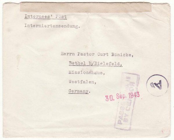 TANGANYIKA - GERMANY..WW2 LUTINDI NTERNMENT CAMP…