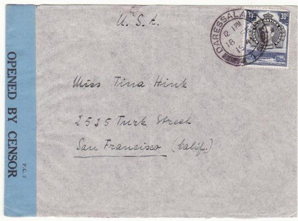 TANGANYIKA - USA...WW2 OLD SHINYANGA CONCENTRATION CAMP…