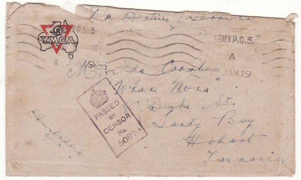 AUSTRALIA … WW1 A.I.F forces in FRANCE with VIVID letter...