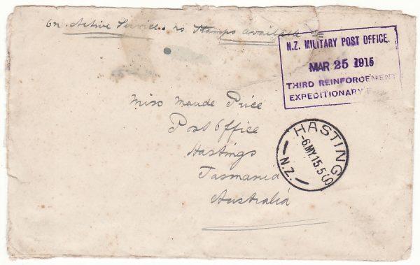 NEW ZEALAND - AUSTRALIA …WW1 THIRD REINFORCEMENT EXPEDITIONY FORCE & MISSENT….