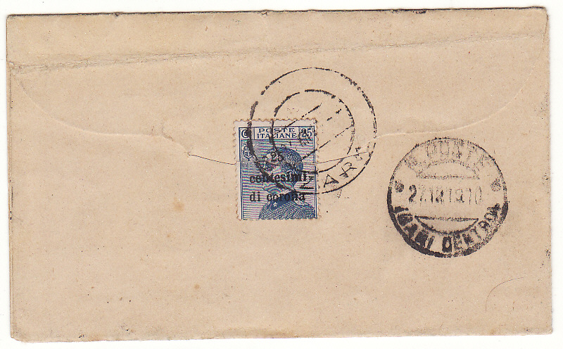 [19992]  YUGOSLAVIA - ITALY…CAPTURED STATIONARY from ITALIAN OCCUPATION ZARA..  1919 (Nov 22)