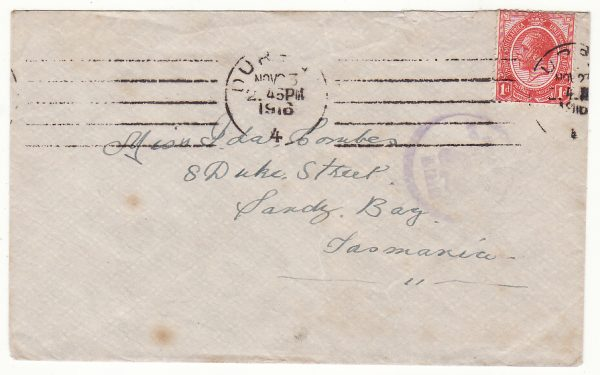 SOUTH AFRICA - AUSTRALIA …WW1 CHRISTMAS GREETING & CENSORED at HOBART.