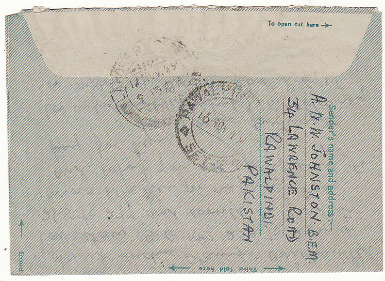 [20026]  PAKISTAN - GB..INDIA AIR LETTER OVERRINTED PAKISTAN …  1949 (Nov 16)