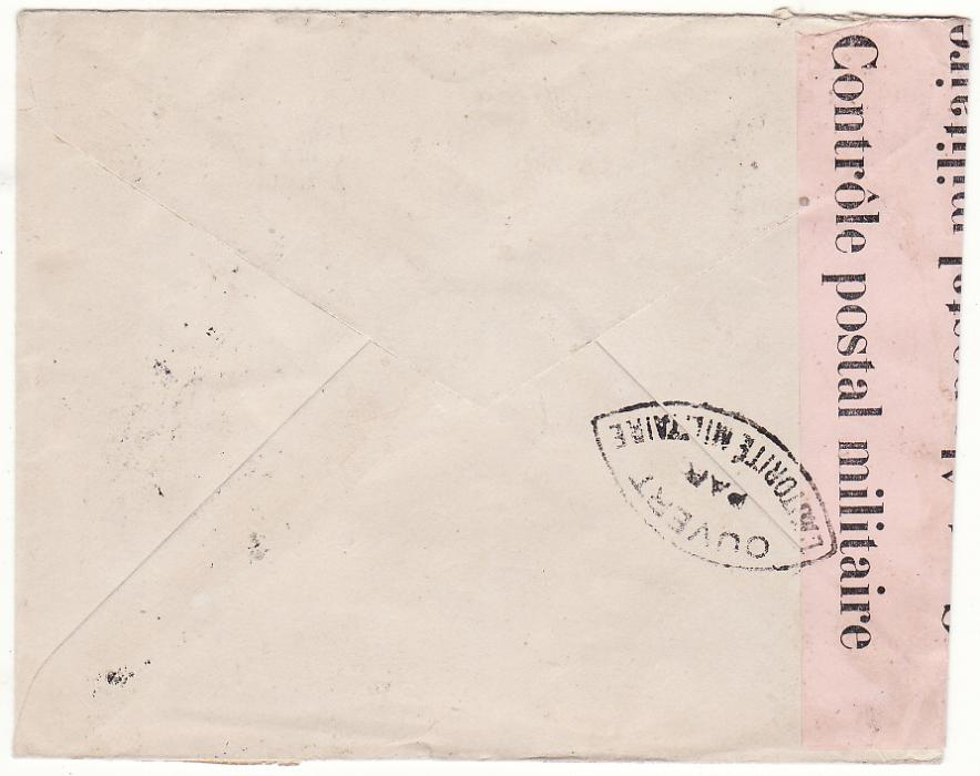 [20044]  TAHITI - FRANCE …WW2 REGISTERED CENSORED…  1945 (Apr 30)