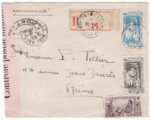 TAHITI - FRANCE …WW2 REGISTERED CENSORED…