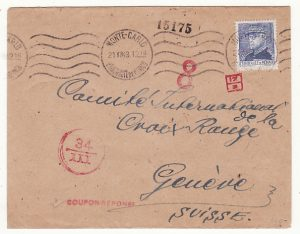 MONACO - SWITZERLAND…ITALIAN OCCUPATION of S.E. FRANCE to RED CROSS…
