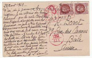 FRANCE - SWITZERLAND…ITALIAN OCCUPATION of S.E. FRANCE…