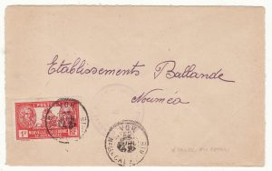 NEW CALEDONIA …WW2 INTERNAL CENSORED MAIL from VOH to NOUMEA…