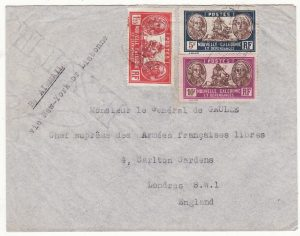 NEW CALEDONIA - GB …WW2 GENERAL DE GAULLE 2 OCEAN AIRMAIL…