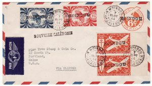 NEW CALEDONIA - USA …WW2 CLIPPER MAIL to STAMP DEALER …
