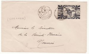 NEW CALEDONIA …WW2 INTERNAL MAIL SARAMEA to NOUMEA …