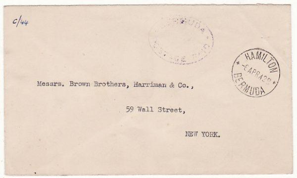 BERMUDA - USA...WW2 POSTAGE PAID…