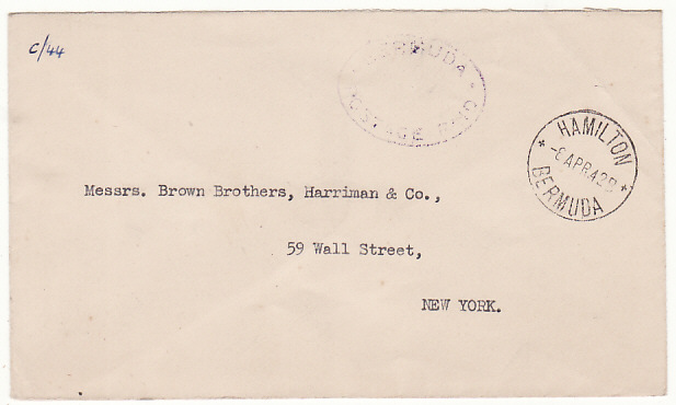 [19284]  BERMUDA - USA...WW2 POSTAGE PAID…  1942 (Apr 8)