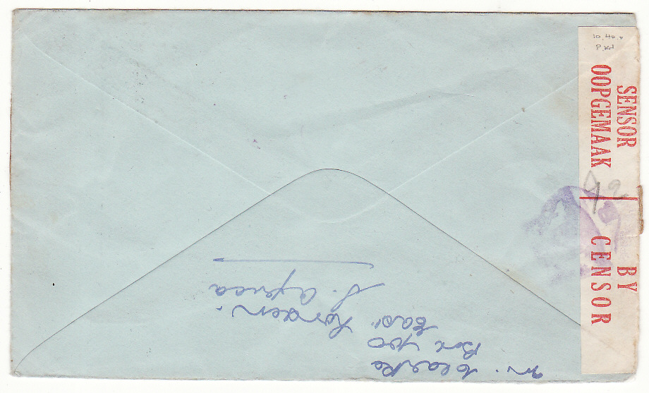[20155]  SOUTH AFRICA - ITALY & FORWARDED to GERMANY... WW2 POW MAIL via RED CROSS GENEVA..  1943 (Sep 16)