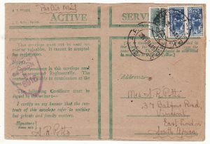 ITALY - SOUTH AFRICA…WW2 SOUTH AFRICAN FORCES ..