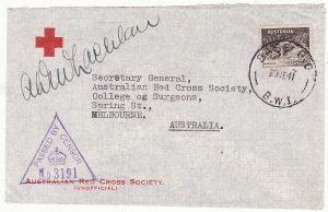 AUSTRALIA…WW2 FORCES in PALESTINE ..RED CROSS…